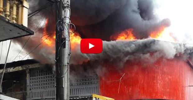 Se incendió el cafetín del Hospital de los Magallanes de Catia