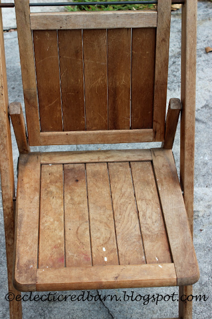 Eclectic Red Barn: Vintage wooden folding chair needs a makeover