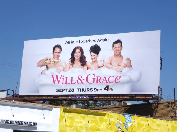 Will & Grace season 9 revival billboard