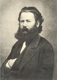 portret henrik ibsen uit 1863 of 64, foto georg nyblin
