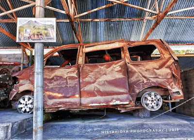 Mobil sisa wedus gembel keganasan gunung merapi