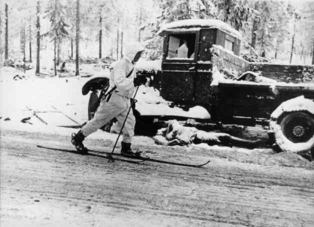 13 February 1940 worldwartwo.filminspector.com Finnish ski trooper