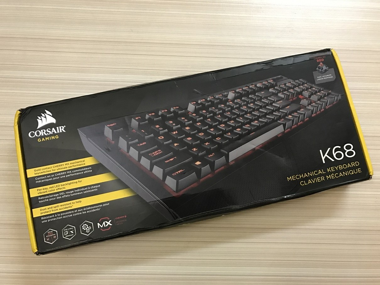 Corsair K68 Review Computers And More Reviews Configurations Keyboard Gaming K70 Rgb Red Switch Used The New Logo Is At Top Left Corner Followed By Product Name Cherry Mx Glimpse