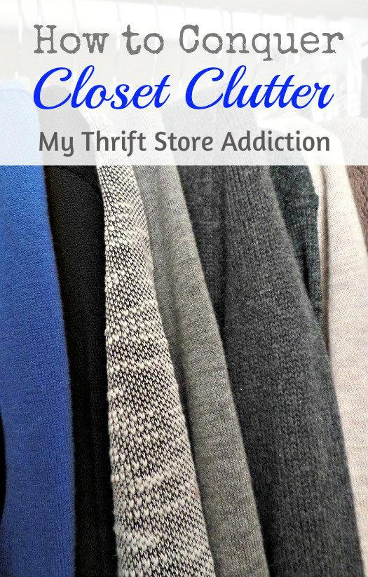 Conquer closet clutter