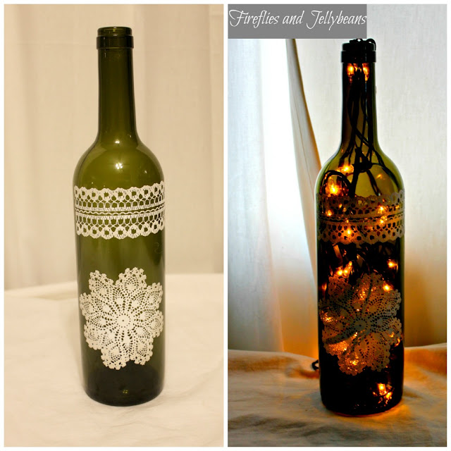 Decorate A Bottle: Fireflies And Jellybeans: Wine Bottle Luminary Tutorial