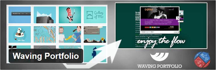 Waving Portfolio plugin