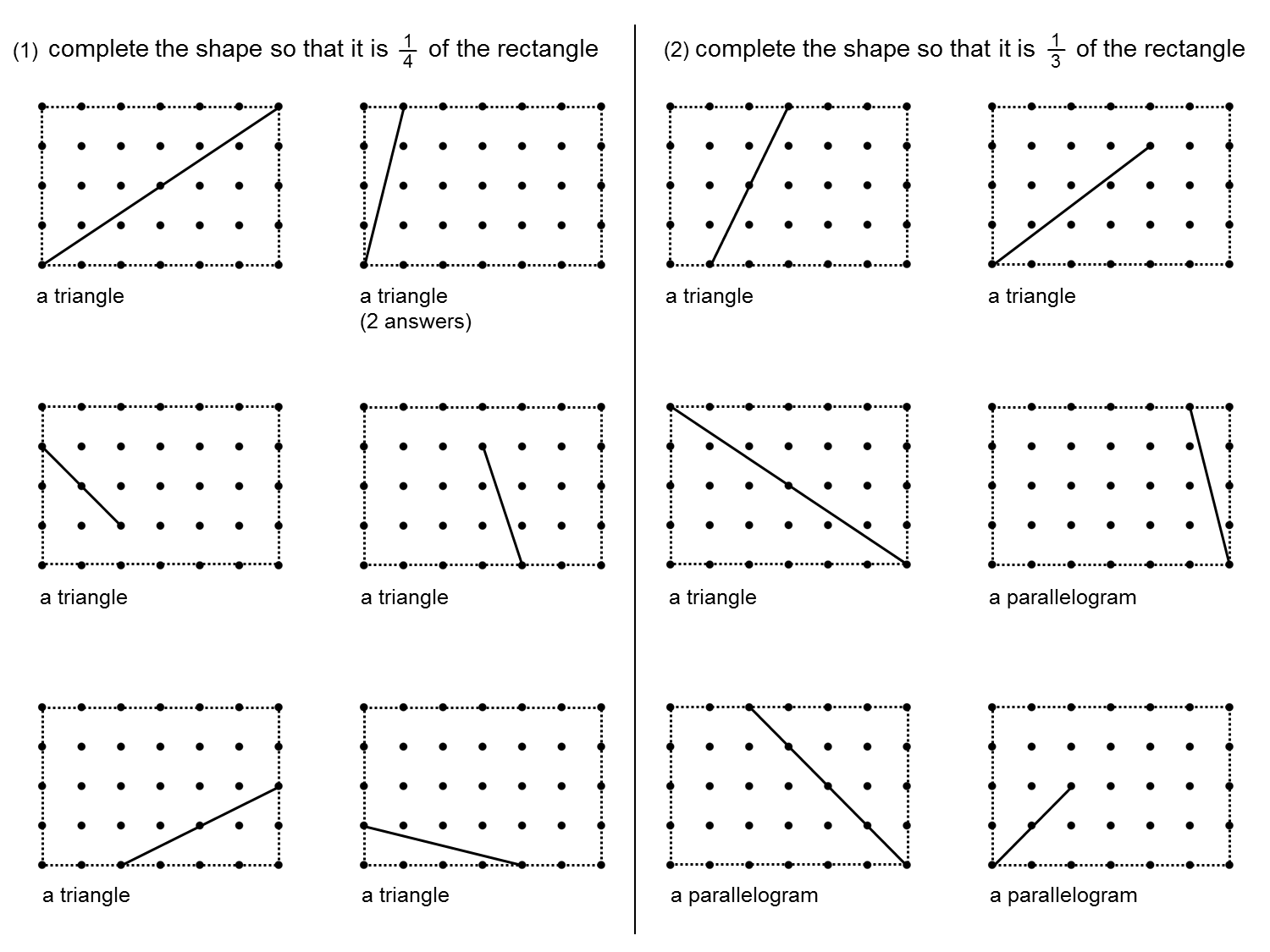 Median Don Steward Mathematics Teaching Fractions Of Rectangles