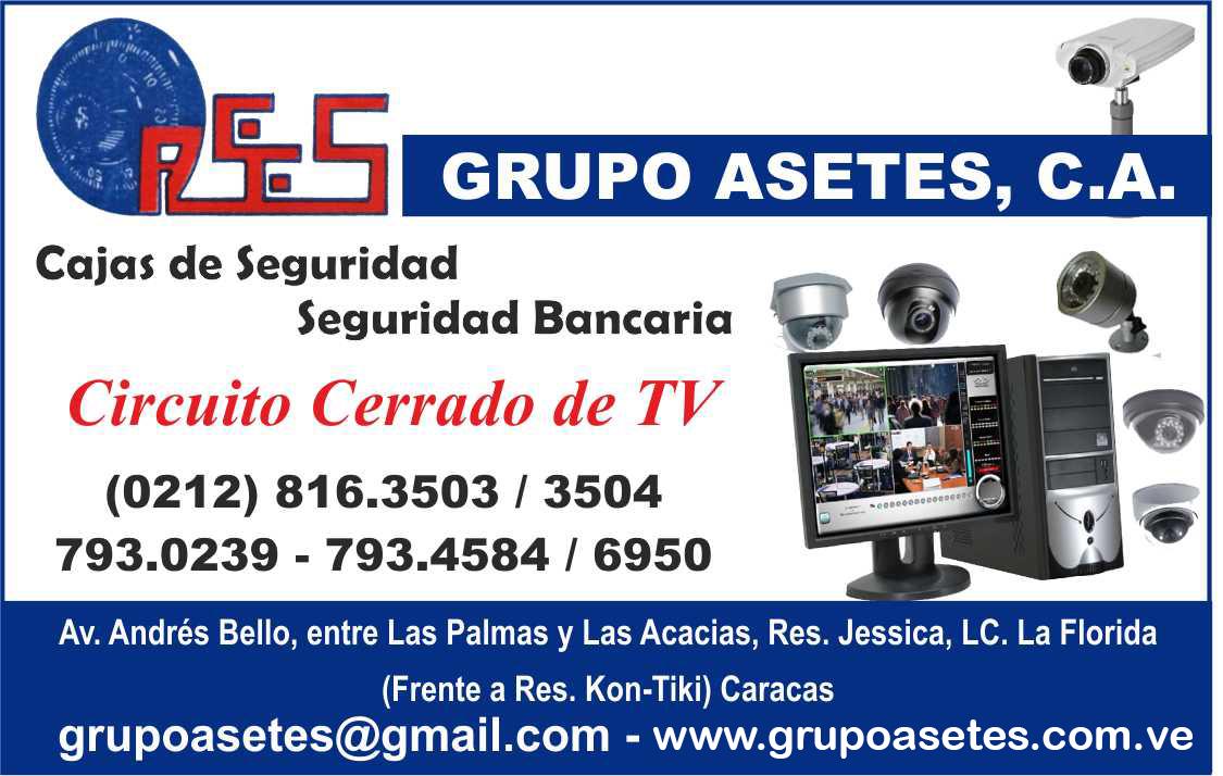 GRUPO ASETES CIRCUITO CERRADO DE TV en Paginas Amarillas tu guia Comercial
