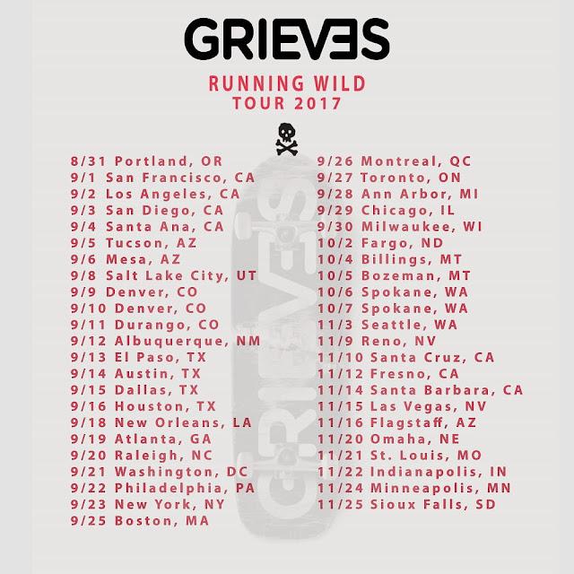 Grieves Running Wild Tour 2017