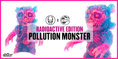 Pollution Monster Radioactive Edition Resin Figure by Mutant Vinyl Hardcore x Clutter
