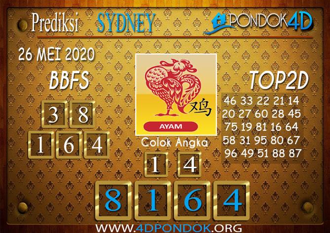 Prediksi Togel SYDNEY PONDOK4D 26 MEI 2020