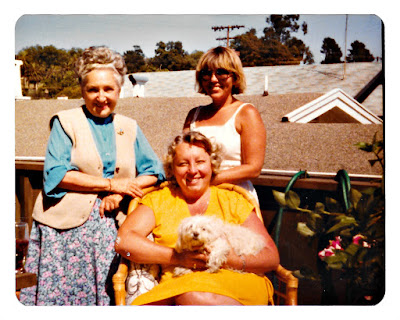 Mary Sheveloff aka Moora alongside Lana K. Thomson and Lena Vasilev in 1979 at 19 Ramona Avenue in Piedmont, California