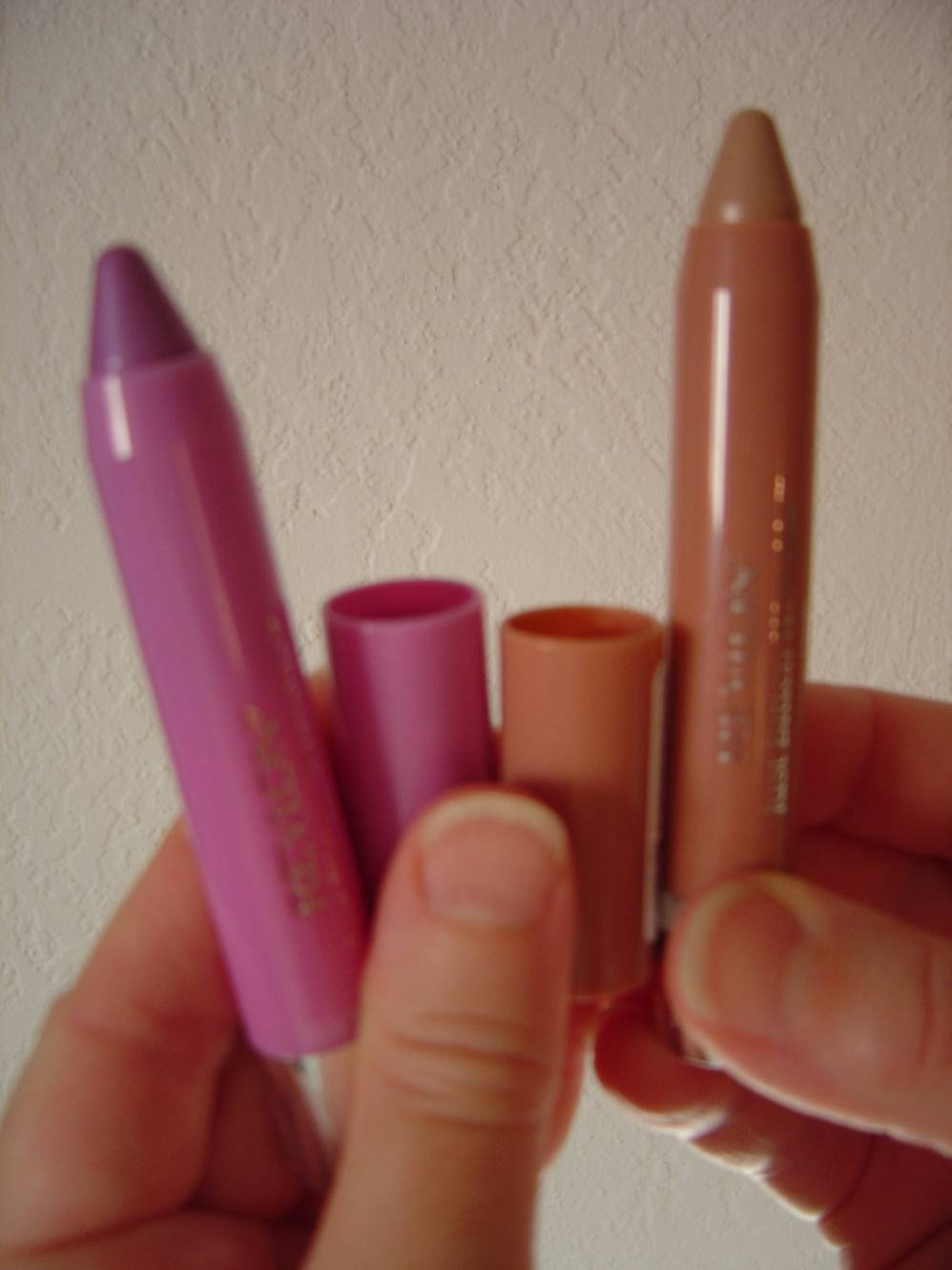 Revlon's Just Bitten Kissable Balm Stains (#50 Precious and #10 Darling).jpeg