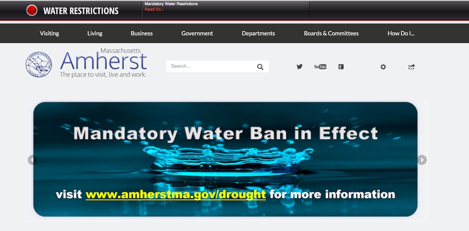 Only in The Republic of Amherst: Water Worries