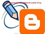 Kegunaan JumpBreak pada Blogspot