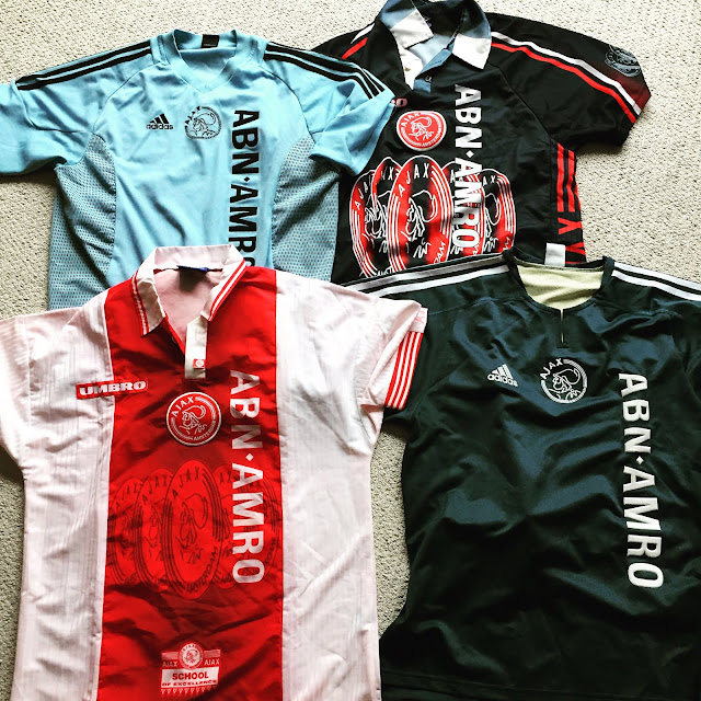 Ajax Amsterdam jerseys from back in the day