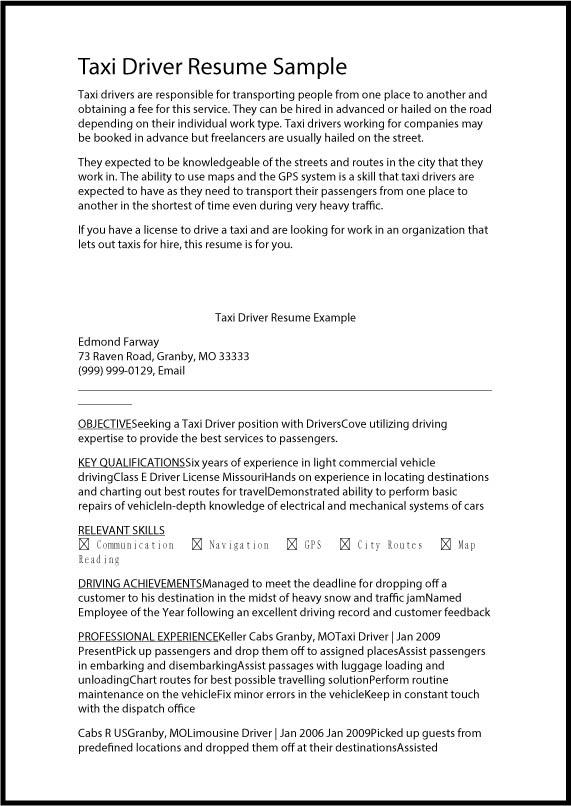 Courier Driver Resume Objective Tubeaktiv