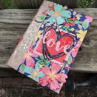 Love book made by Spread Joy Stamping using Affectionately Yours DSP.