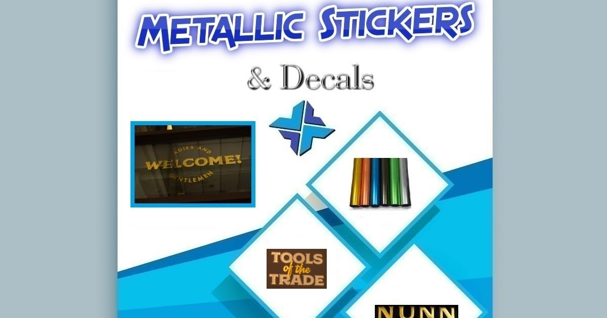 Die cut metallic stickers decals printixels philippines