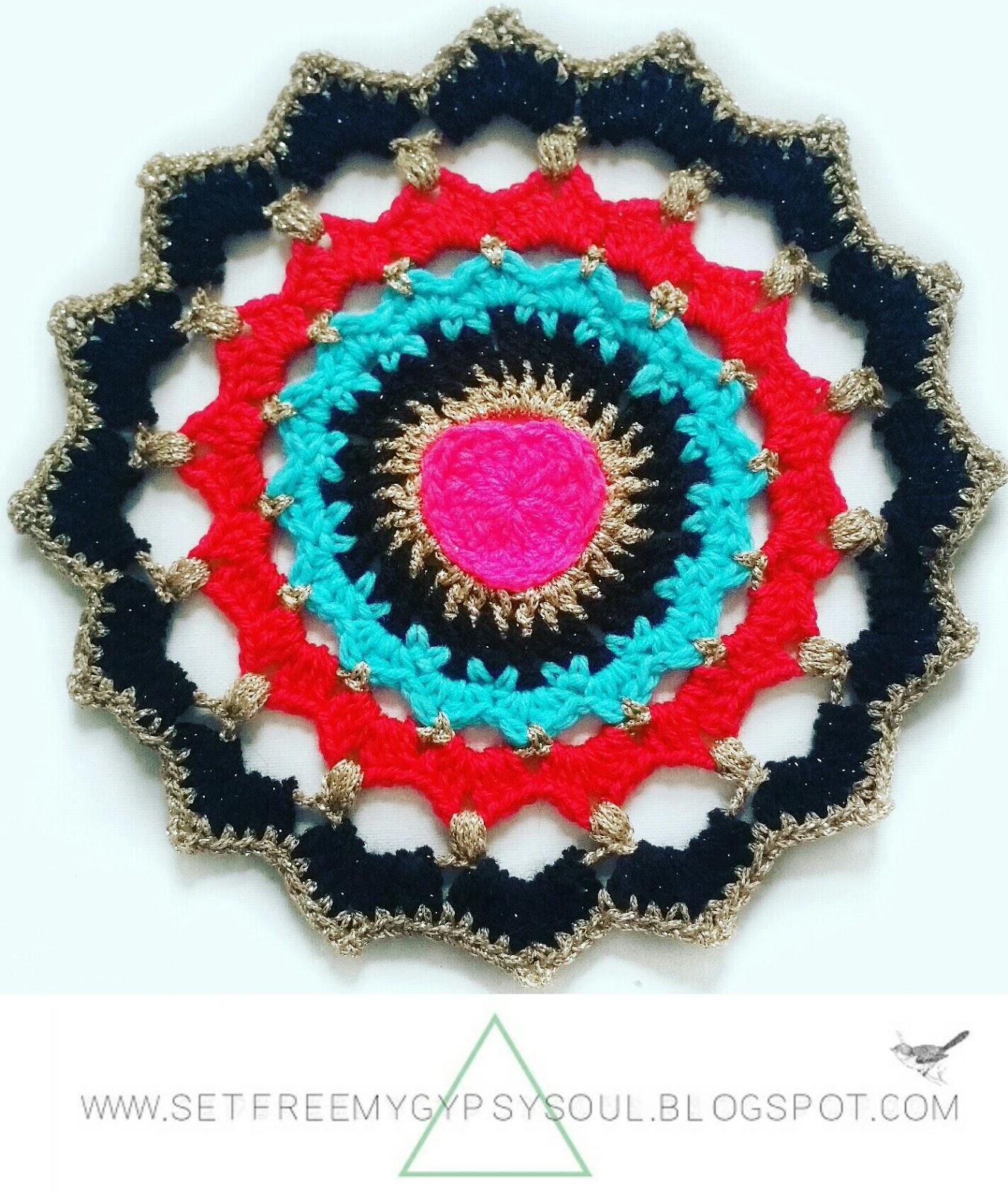heart mandala crochet pattern free