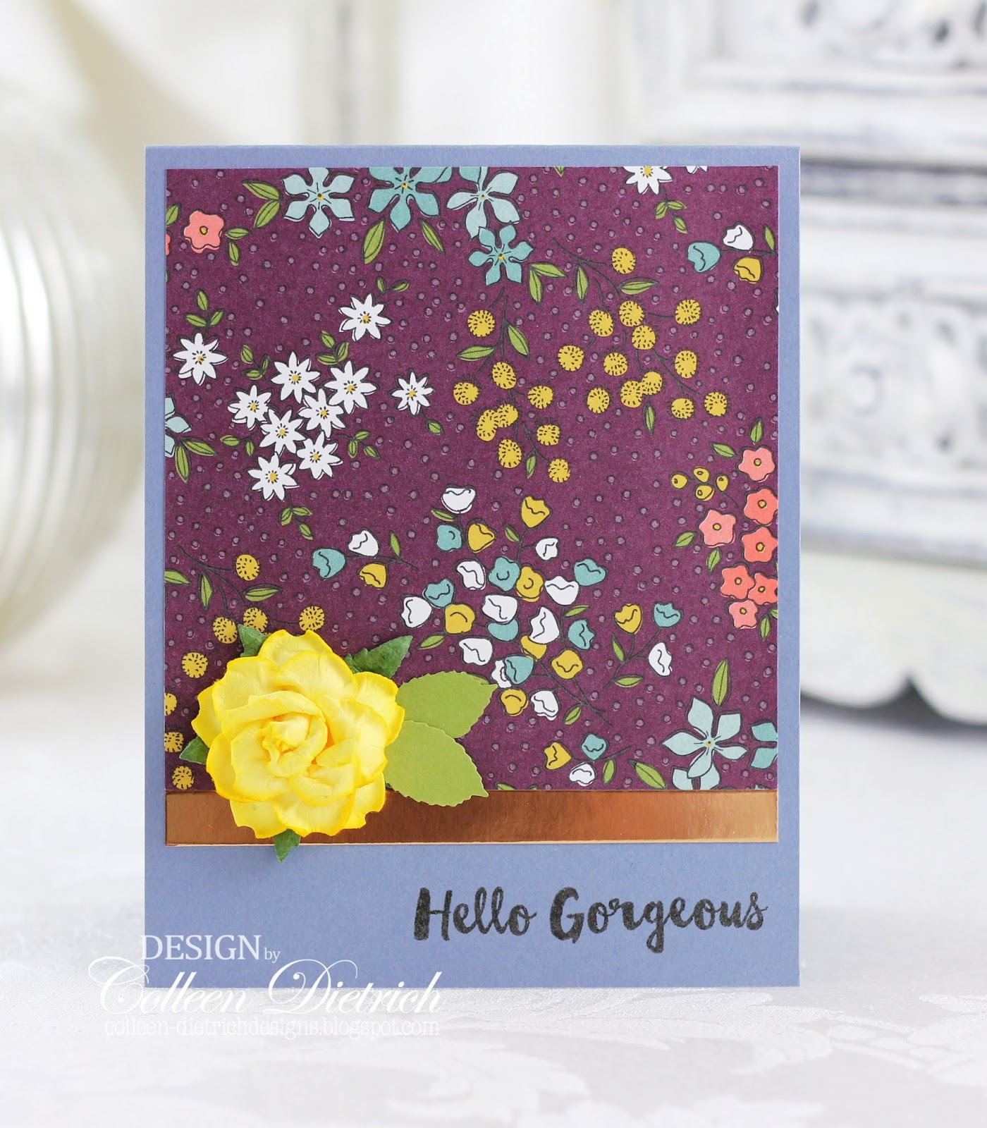 Handmade Mother/'s Day Card Glittered  Butterfly Using Stampin Up /& Martha Stewar