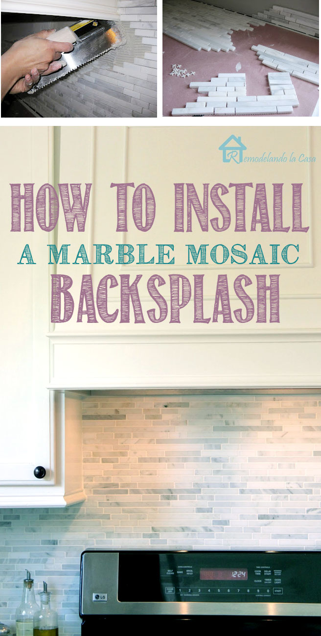 how to install a marble mosaic backsplash - kitchenprojects
