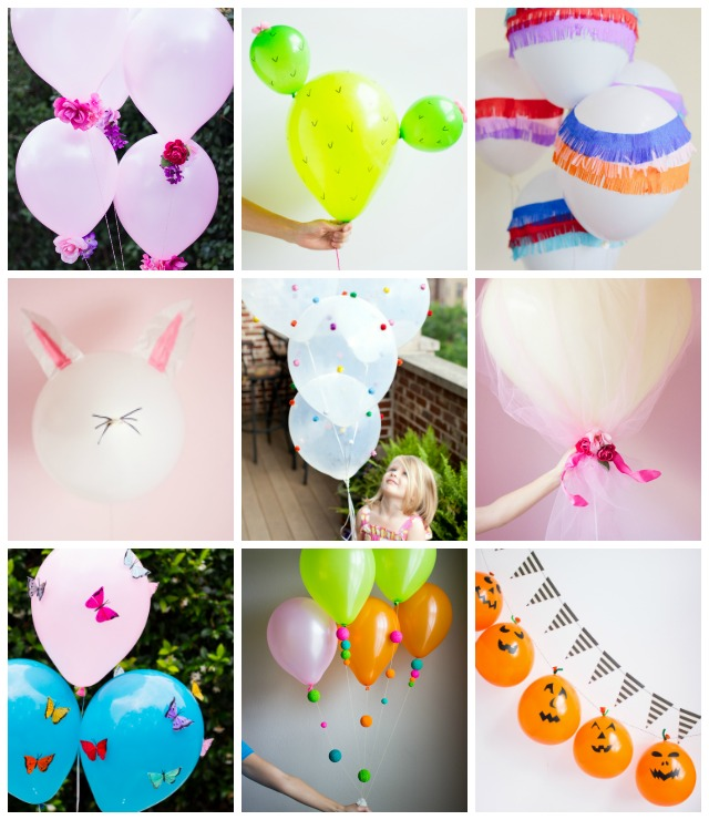 Such fun DIY balloon craft ideas from Design Improvised!