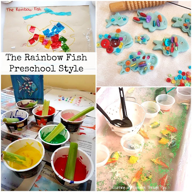 The Rainbow Fish Activities for Preschool. National Reading Month.