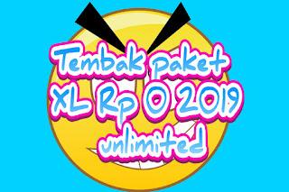 Tembak paket XL Rp 0 2019 unlimited