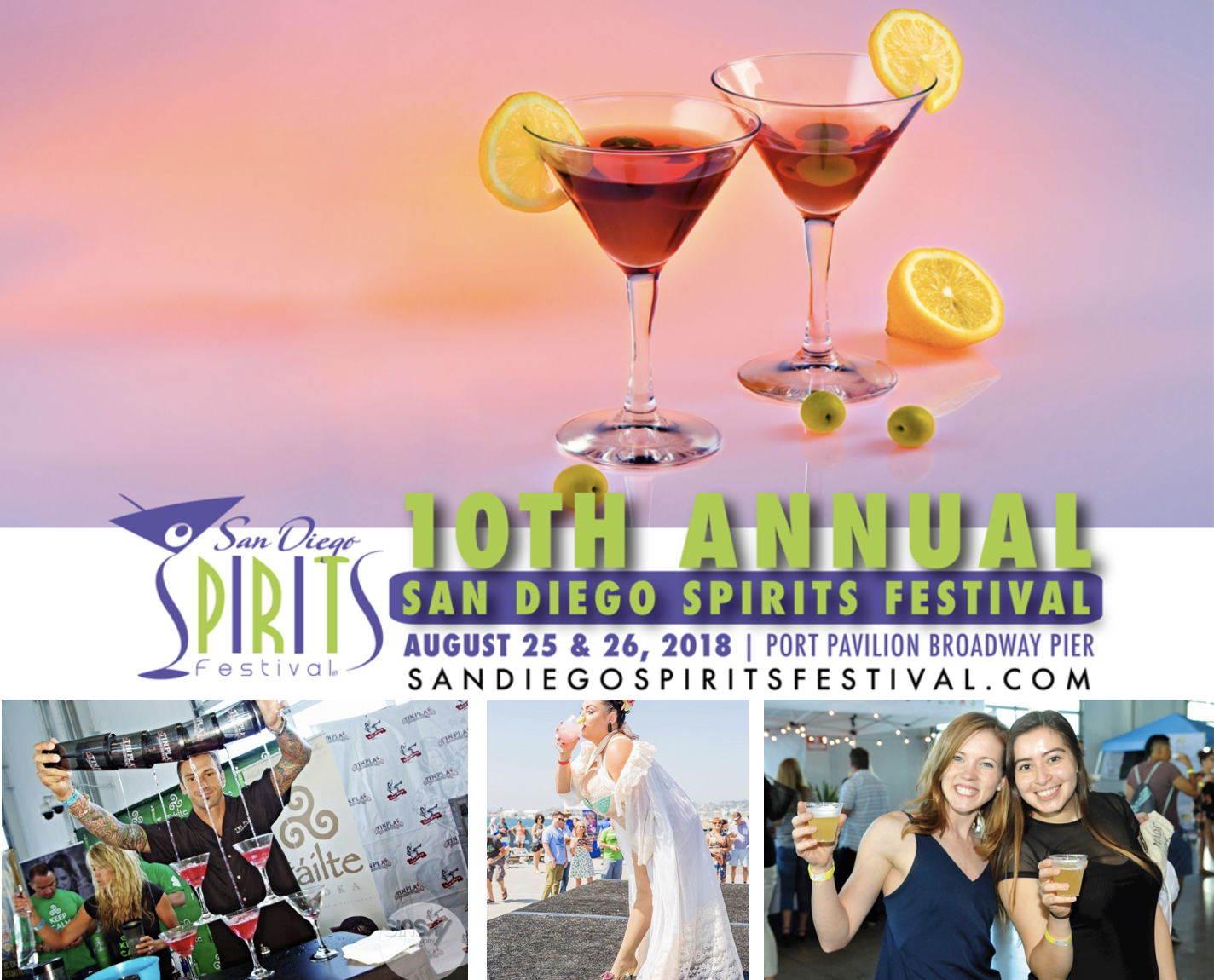 Save on passes & Enter to win tickets to the San Diego Spirits Festival - August 25 & 26!