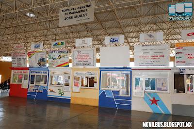 taquillas de la terminal de autobuses de pinotepa nacional