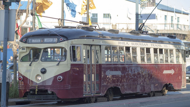 F Market Street Car in San Francisco