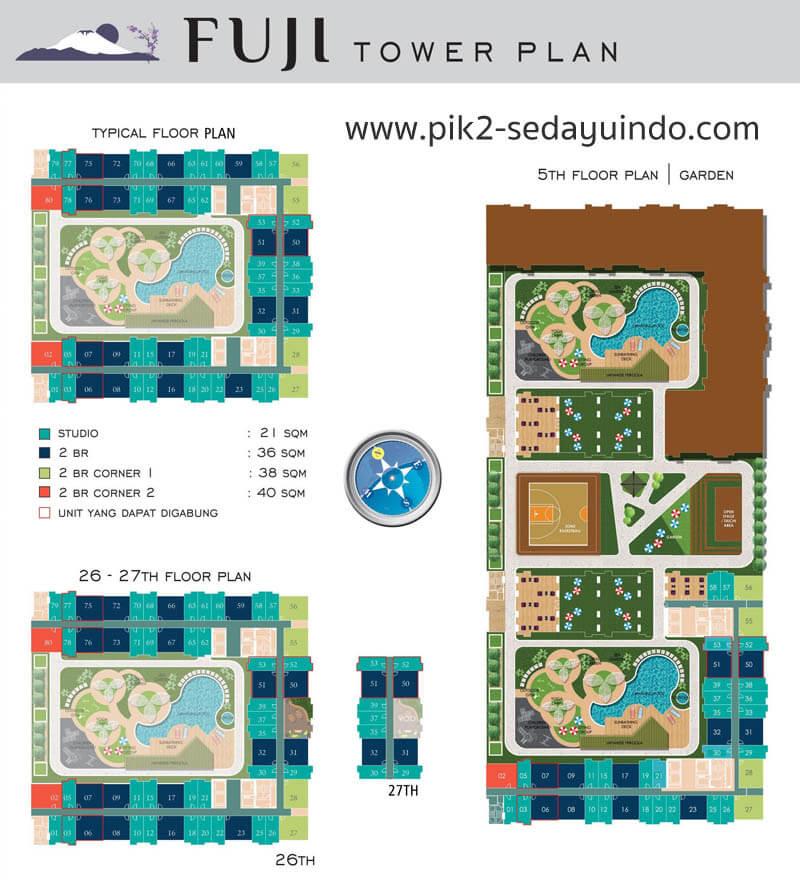 Tower FUJI PIK 2 Apartemen Site Plan