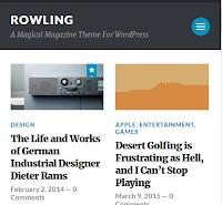 Rowling Wordpress Blogger Theme Free Download