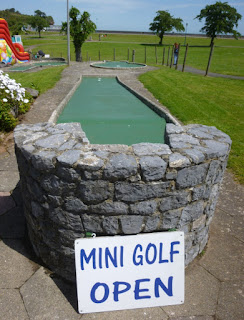 Mini Golf course in Goodrington Park at Goodrington Sands, Paignton, Devon