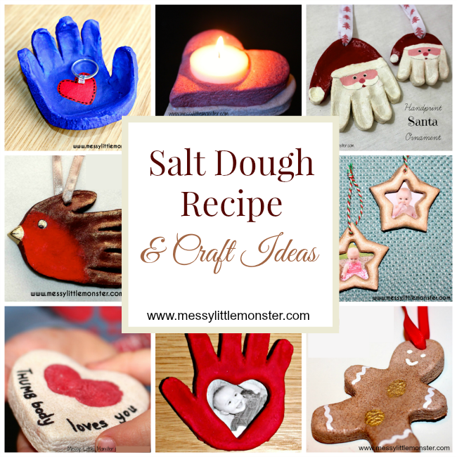 How to make salt dough - easy salt dough recipe and salt dough craft ideas for kids
