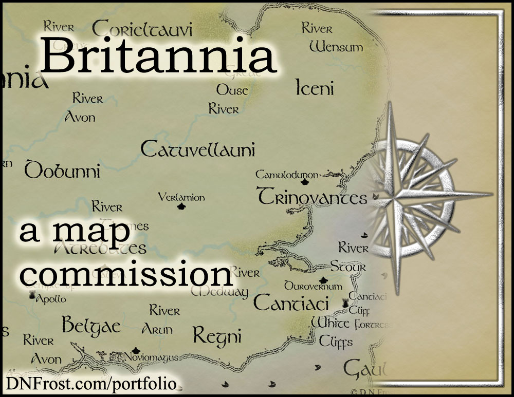 Britannia: ancient Celtic realm of Linnea Tanner http://www.dnfrost.com/2015/08/ancient-celtic-britain-map-commission.html A map commission by D.N.Frost @DNFrost13 Part 1 of a series.