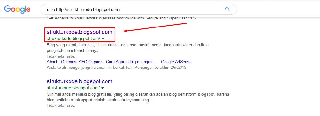 Cara Mengetahui Blog Kita Sudah Terindeks Google Versi Godeloku