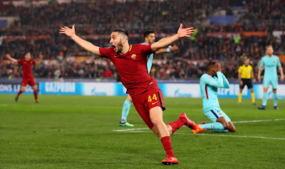 Highlight AS Roma 3-0 Barcelona, 10 April 2018