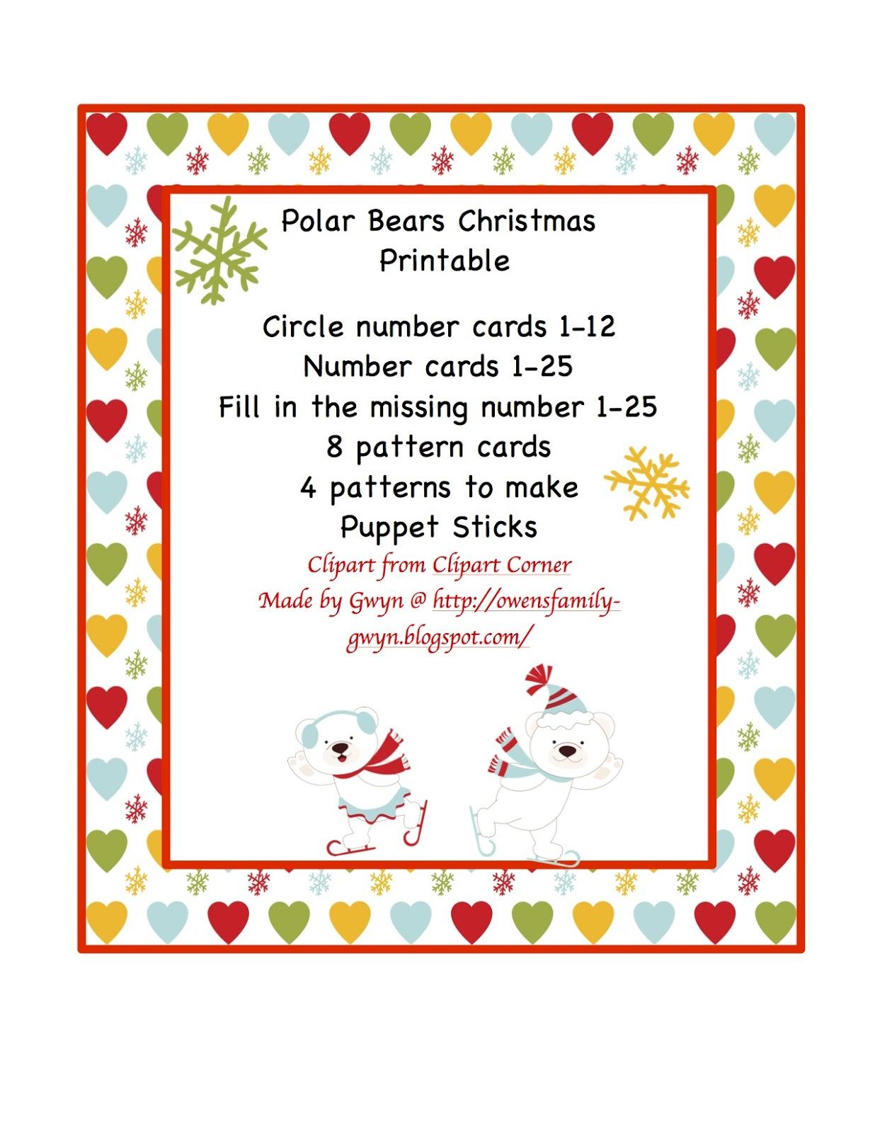 Christmas Printable Pre K