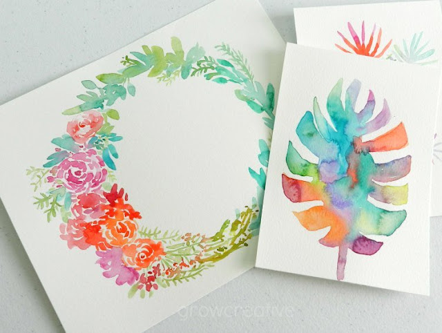 Watercolor Floral Wreath by Elise Engh: Grow Creative Blog