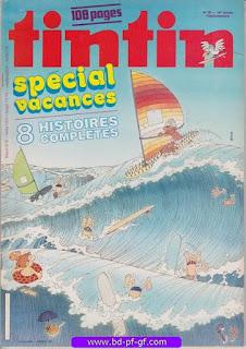 Tintin-numéro 26, année 38, 1983, Spécial Vacances