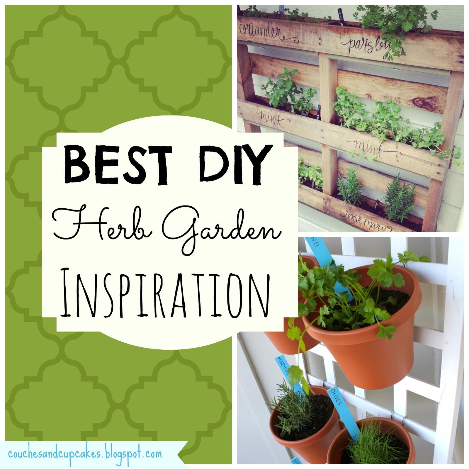Patio Herb Garden Idea: Couches And Cupcakes: Best DIY Herb Garden Ideas