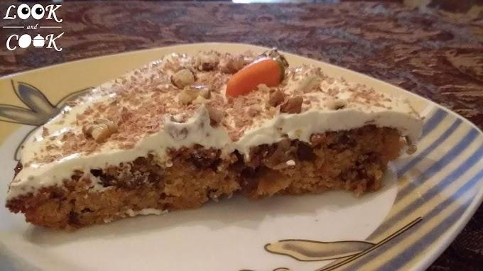 Κέικ καρότου με κρέμα τυριού & άρωμα πορτοκάλι