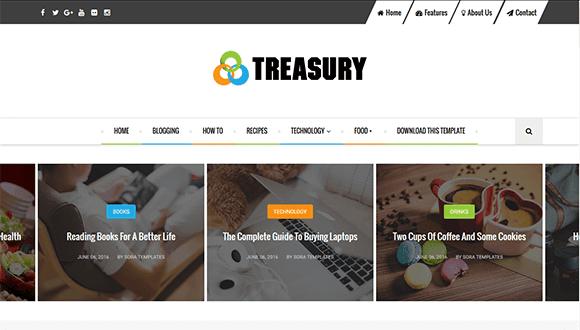 تحميل قالب بلوجر treasury