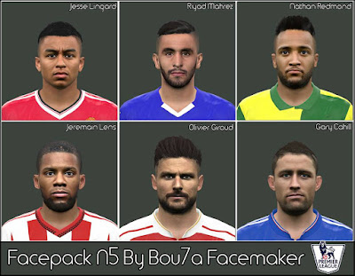 PES 2016 EPL Facepack By Bu7a Facemaker