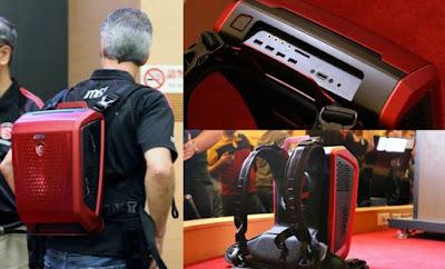 """هذه ليست حقيبة ظهر وإنما الإختراع الجديد في عالم الحواسب """"المحمولة"""""""