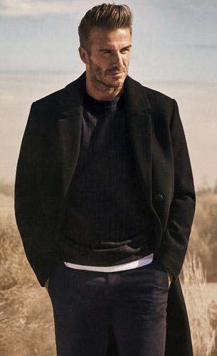 abrigo hombre colección Modernos Esenciales David Beckham para HM