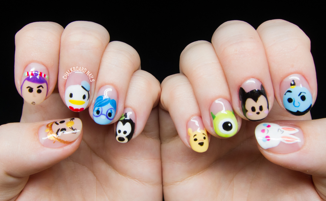 Disney Tsum Tsum Character Nail Art | Chalkboard Nails ...