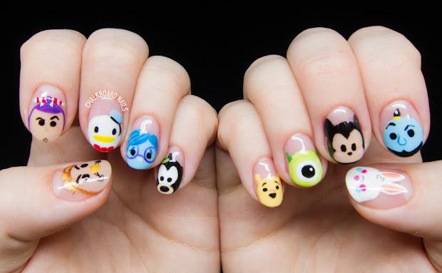 disney tsum character nail